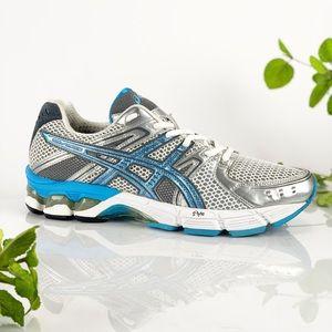 Asics  Gel 3030 Women Running Shoe White Blue